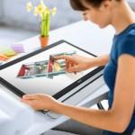 Touchscreen Monitor Acer UT220HQL с хоризонтално позициониране